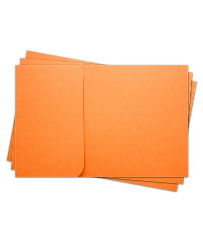 ОПК1008 Основа для оформления  подарочной КАРТЫ №1 КОМПЛЕКТ 3шт. Цвет оранжевый матовый
