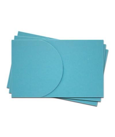 ОПК2006 Основа для оформления  подарочной карты №2 КОМПЛЕКТ 3шт. Цвет ярко-голубой матовый