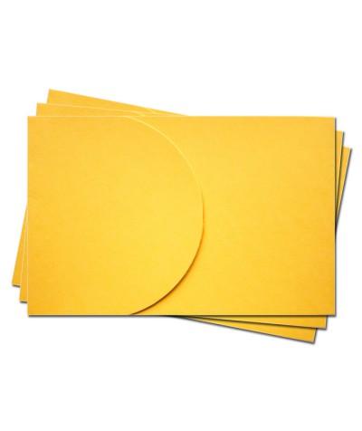 ОПК2007 Основа для оформления  подарочной карты №2 КОМПЛЕКТ 3шт. Цвет желтый  матовый