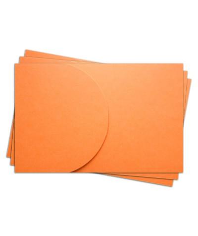 ОПК2008 Основа для оформления  подарочной карты №2 КОМПЛЕКТ 3шт. Цвет оранжевый  матовый