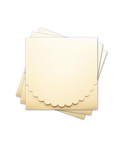ОКCD1002 Основа для конверта под CD №1 КОМПЛЕКТ 3шт.  Цвет кремовый матовый