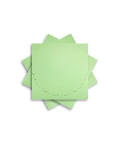 ОКCD1004 Основа для конверта под CD №1 КОМПЛЕКТ 3шт.  Цвет светло-зеленый матовый