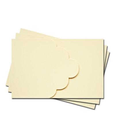 ОПК3002 Основа для оформления подарочной карты №3 КОМПЛЕКТ 3шт. Цвет кремовый матовый