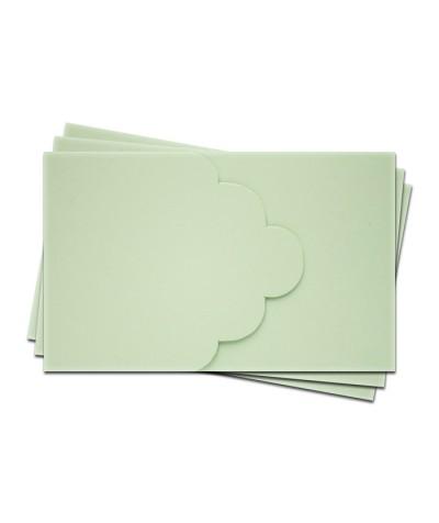 ОПК3004 Основа для оформления подарочной карты №3 КОМПЛЕКТ 3шт. Цвет светло-зеленый матовый