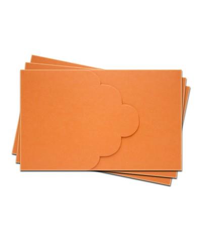 ОПК3008 Основа для оформления подарочной карты №3 КОМПЛЕКТ 3шт. Цвет оранжевый матовый