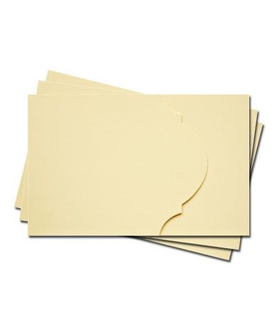 ОПК4002 Основа для оформления подарочной карты №4 КОМПЛЕКТ 3шт. Цвет кремовый матовый