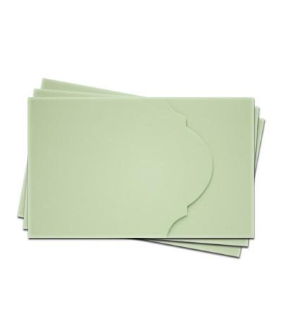 ОПК4004 Основа для оформления подарочной карты №4 КОМПЛЕКТ 3шт. Цвет светло-зеленый матовый
