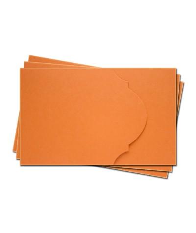 ОПК4008 Основа для оформления подарочной карты №4 КОМПЛЕКТ 3шт. Цвет оранжевый матовый