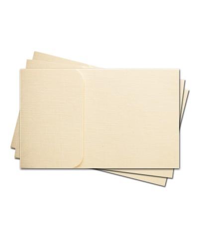 ОПК1102 Основа для оформления  подарочной КАРТЫ №1 КОМПЛЕКТ 3шт. Цвет слон.кость, фактура