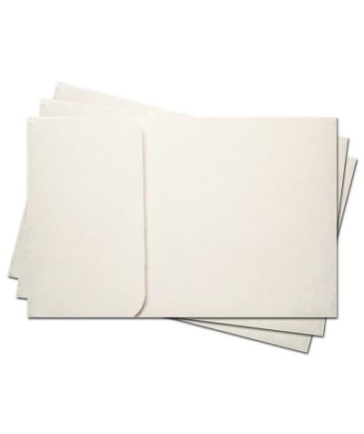ОПК1301 Основа для оформления подарочной КАРТЫ №1 КОМПЛЕКТ 3шт. Цвет белый, фактура
