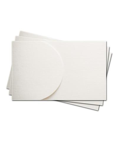 ОПК2101 Основа для оформления  подарочной карты №2 КОМПЛЕКТ 3шт. Цвет белый, фактура