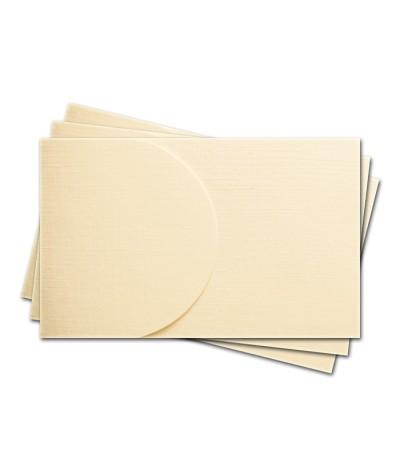 ОПК2102 Основа для оформления  подарочной карты №2 КОМПЛЕКТ 3шт. Цвет слон.кость, фактура