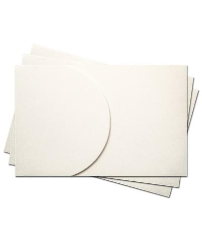 ОПК2301 Основа для оформления подарочной карты №2 КОМПЛЕКТ 3шт. Цвет белый, фактура