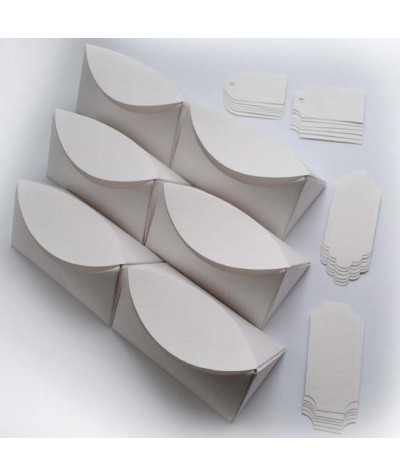 БОН1001-1 Заготовки для бонбоньерок №1 КОМПЛЕКТ 6 шт. Цвет Белый, фактура