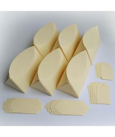 БОН1002-1 Заготовки для бонбоньерок №1 КОМПЛЕКТ 6 шт. Цвет Слоновая кость, фактура