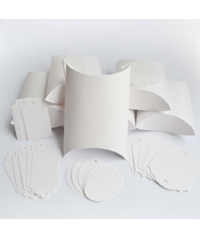 БОН3001-2 Заготовки для бонбоньерок №3 КОМПЛЕКТ 6 шт. Цвет Белый, фактура