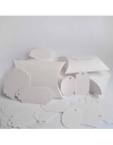 БОН3001-4 Заготовки для бонбоньерок №3 КОМПЛЕКТ 6 шт. Цвет Белый, фактура