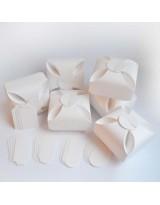 БОН5001-1 Заготовки для бонбоньерок №5 КОМПЛЕКТ 6 шт. Цвет Белый, фактура