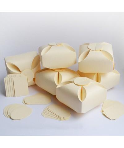 БОН5002-1 Заготовки для бонбоньерок №5 КОМПЛЕКТ 6 шт. Цвет Слоновая кость, фактура