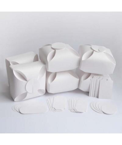 БОН5001-4 Заготовки для бонбоньерок №5 КОМПЛЕКТ 6 шт. Цвет Белый, фактура