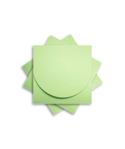 ОКCD2004 Основа для конверта под CD №2 КОМПЛЕКТ 3шт.  Цвет светло-зеленый матовый