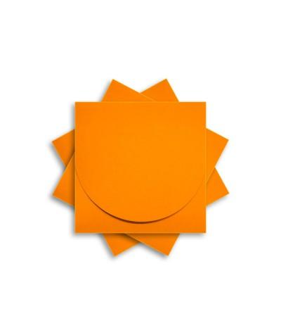 ОКCD2008 Основа для конверта под CD №2 КОМПЛЕКТ 3шт.  Цвет оранжевый матовый