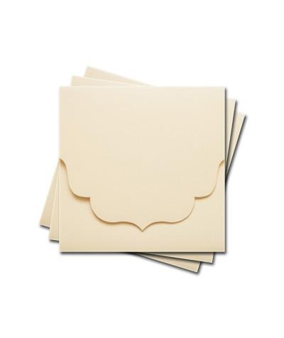 ОКCD3002 Основа для конверта под CD №3 КОМПЛЕКТ 3шт.  Цвет кремовый матовый