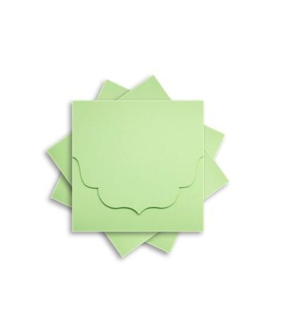 ОКCD3004 Основа для конверта под CD №3 КОМПЛЕКТ 3шт.  Цвет светло-зеленый матовый