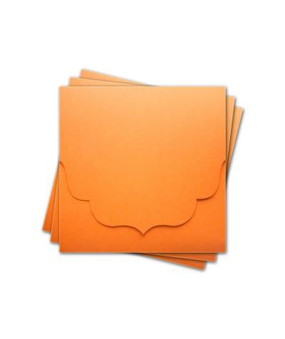 ОКCD3008 Основа для конверта под CD №3 КОМПЛЕКТ 3шт.  Цвет оранжевый матовый