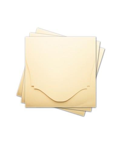 ОКCD4002 Основа для конверта под CD №4 КОМПЛЕКТ 3шт.  Цвет кремовый матовый