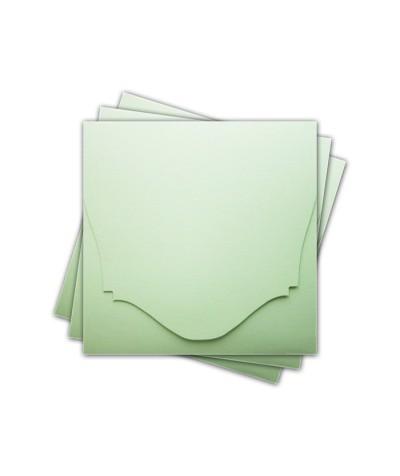 ОКCD4004 Основа для конверта под CD №4 КОМПЛЕКТ 3шт.  Цвет светло-зеленый матовый