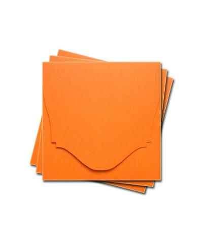 ОКCD4008 Основа для конверта под CD №4 КОМПЛЕКТ 3шт.  Цвет оранжевый матовый