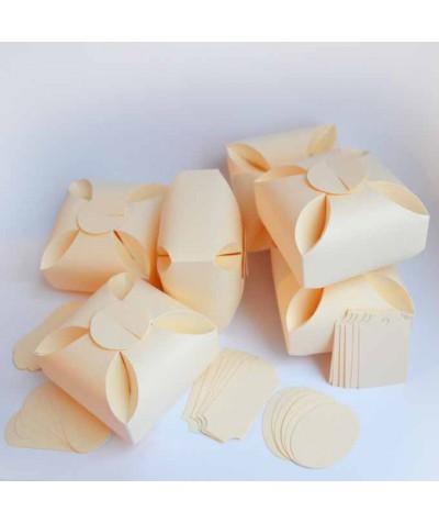 БОН5002-2 Заготовки для бонбоньерок №5 КОМПЛЕКТ 6 шт. Цвет Слоновая кость, фактура