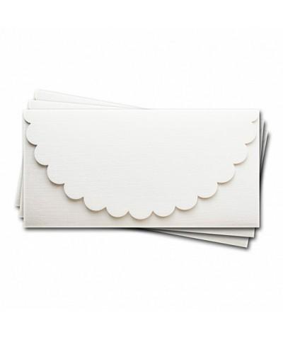 ОК1101 Основа для подарочного конверта №1 комплект 3шт.  Цвет белый Фактура
