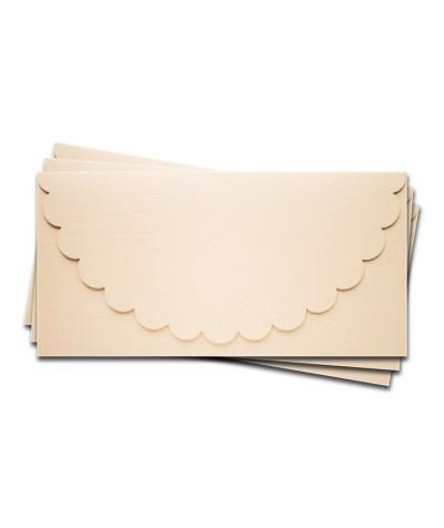 ОК1102 Основа для подарочного конверта №1 комплект 3 шт. Цвет Слон.Кость Фактура