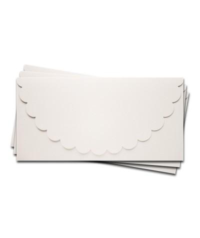 ОК1301 Основа для подарочного конверта №1 комплект 3шт.  Цвет белый Фактура