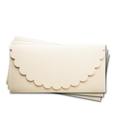 ОК1302 Основа для подарочного конверта №1 комплект 3шт.  Цвет Слон. Кость Фактура