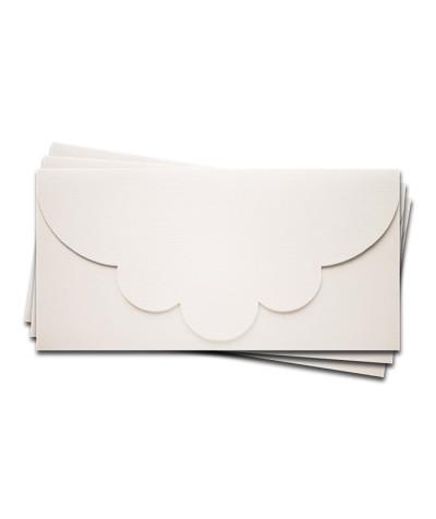 ОК2101 Основа для подарочного конверта №2 комплект 3шт.  Цвет белый Фактура