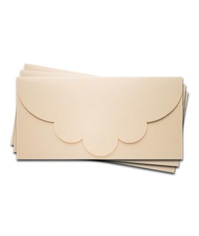 ОК2102 Основа для подарочного конверта №2 комплект 3шт.  Цвет Слон.Кость Фактура