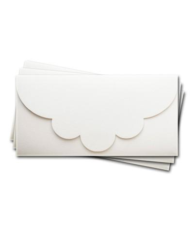 ОК2301 Основа для подарочного конверта №2 комплект 3шт.  Цвет белый Фактура