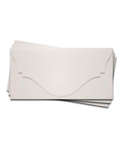 ОК4301 Основа для подарочного конверта №4 комплект 3шт. Цвет белый Фактура