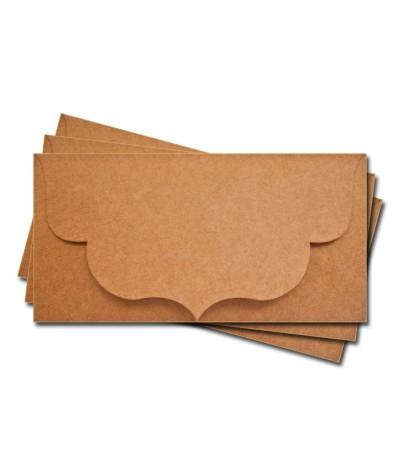 ОК3009 Основа для подарочного конверта №3 комплект 3шт. Крафт