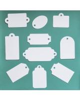ВФ024-1 Набор ярлычков 10 шт., цвет Белый перламутровый