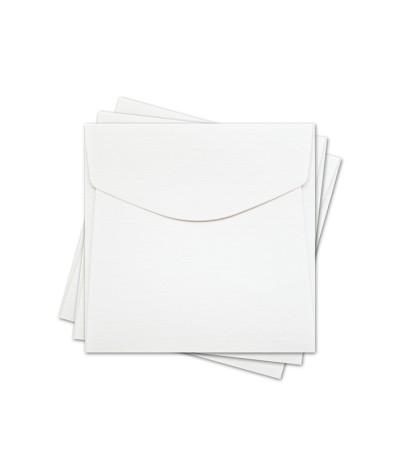 ОКО4101 Конверт для откр 10х10 см КОМПЛ. 3шт.  Цв. белый Факт