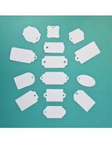 ВФ2024-2 Набор ярлычков-мини 14 шт., цвет Белый, фактура