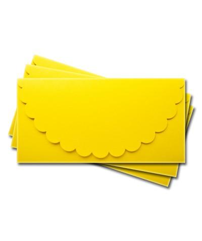 ОК1010 Основа для подарочного конверта №1 комплект 3шт.  Цвет лимонный матовый