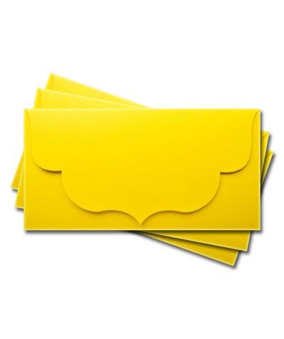 ОК3010 Основа для подарочного конверта №3 комплект 3шт. Цвет лимонный матовый