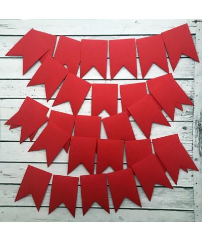 ГИР0003 Заготовка для гирлянды Флажок Красный