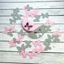 ГИР2001 Заготовка для гирлянды Полукруг Бабочка Сиреневый/Розовый