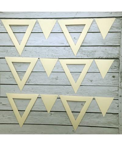 ГИР5102 Заготовка для гирлянды Треугольник 2 в 1 Кремовый